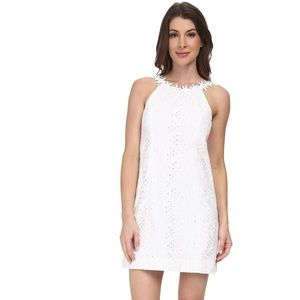 Lilly Pulitzer | White Lace Floral Shift Dress